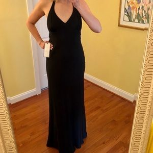 NWT J.Crew black dress 100% silk special occasions
